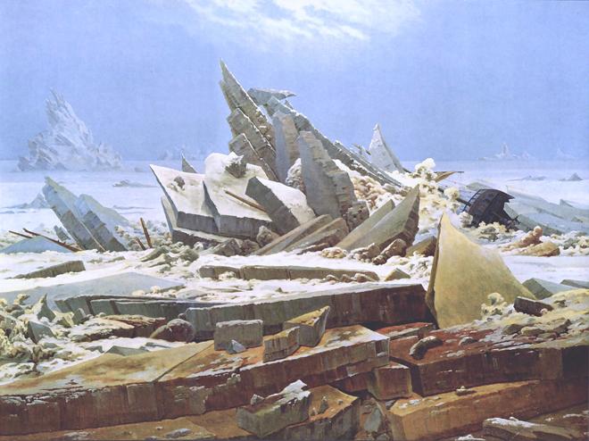 [4] <cite>La Mer de glace</cite> de Caspar David Friedrich, 1823-1824, Kunsthalle de Hambourg