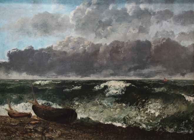 La Mer orageuse, de Gustave Courbet, 1870, Musée d'Orsay