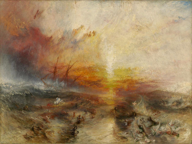 [6] <cite>Le Négrier</cite> de William Turner, 1840. Musée des beaux-arts de Boston