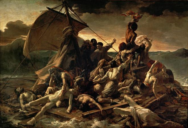 [3] <cite>Le Radeau de la Méduse</cite> de Théodore Géricault, 1818-1819, Musée du Louvre