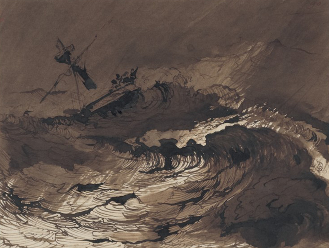 Les Travailleurs de la mer, dessin de Victor Hugo © Gallica-BnF