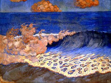 [15] <cite>Marine bleue, effet de vague</cite> de Georges Lacombe, vers 1893, Musée des beaux-arts de Rennes
