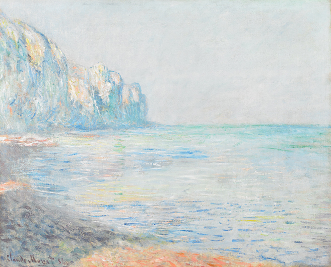 [10] <cite>Matin brumeux à Pourville</cite> de Claude Monet, 1882. Source : Birmingham Museum of Art