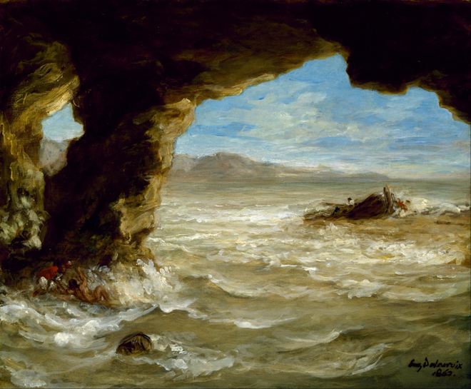 [5] <cite>Naufrage à la côte</cite> d'Eugène Delacroix, 1862. Source : Museum of Fine Arts, Houston