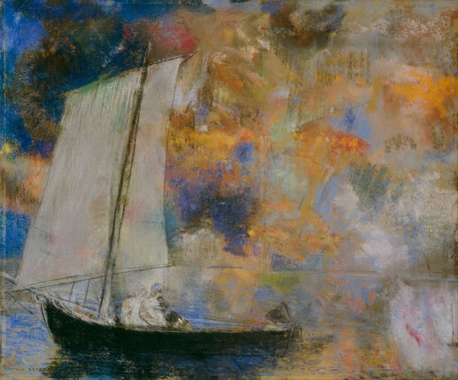 [14] <cite>Nuages en fleurs</cite> de Odilon Redon, vers 1903, Art Institute of Chicago