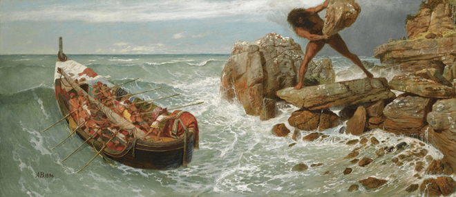 [12] <cite>Odysseus et Polyphemus</cite> d'Arnold Böcklin, 1896. Source : Museum of Fine Arts, Boston