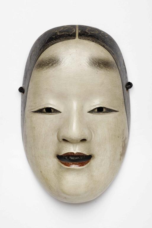 Masque nô de type «jeune femme» en bois de cyprès, époque Edo. Source: Museum für Asiatische Kunst - Staatliche Museen zu Berlin/CC-BY-NC-SA- 3.0
