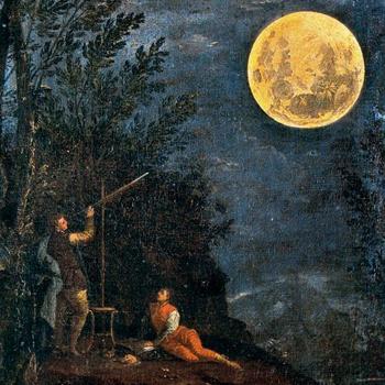 Observations astronomiques : la lune, de Donato Creti, 1711. Source : Pinacothèque du Vatican