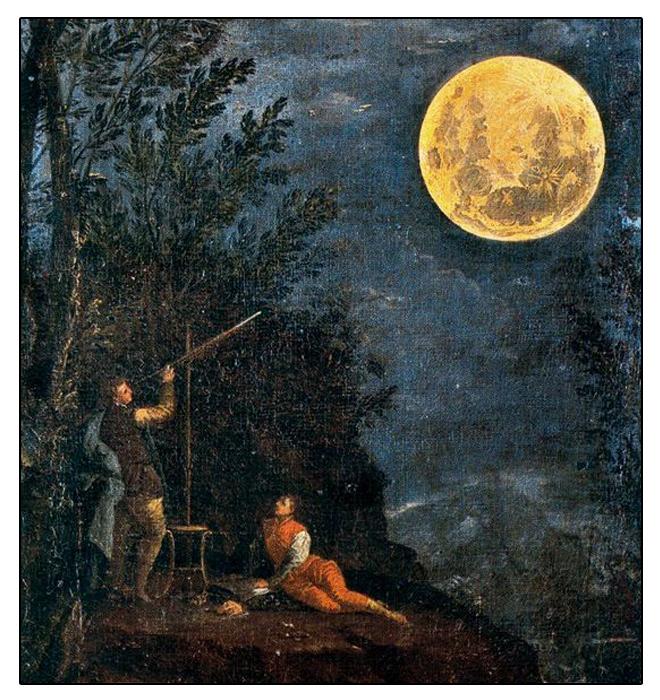 Observations astronomiques: la lune, de Donato Creti, 1711. Source: Pinacothèque du Vatican