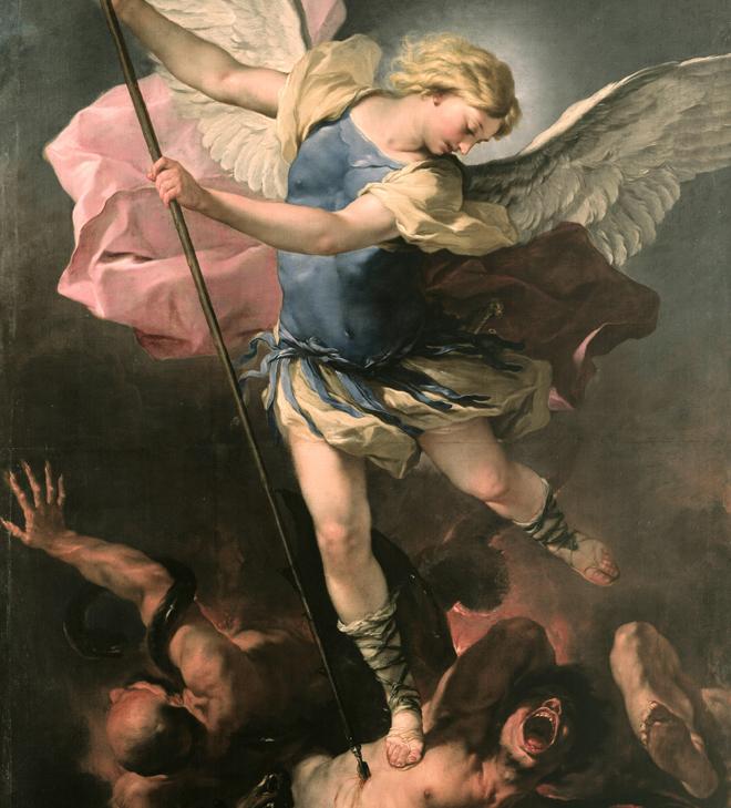 Saint Michel, de Luca Giordano, vers 1663. Source: Gemäldegalerie, Berlin
