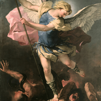 Saint Michel, de Luca Giordano, vers 1663. Source : Gemäldegalerie, Berlin