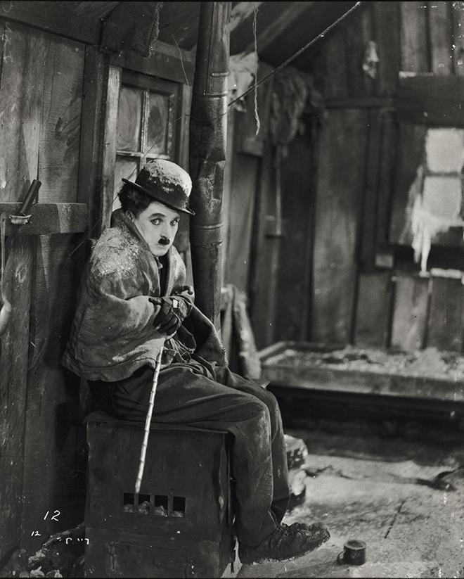Charlie Chaplin dans La Ruée ver l'or. NY Public Library, digital collections