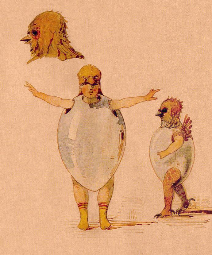 Croquis de costume de poussins pour le ballet Trilby de Yuli Gerber, aquarelle de Viktor Hartmann, 1871. Maison Pouchkine, Académie des Sciences, Saint-Pétersbourg.