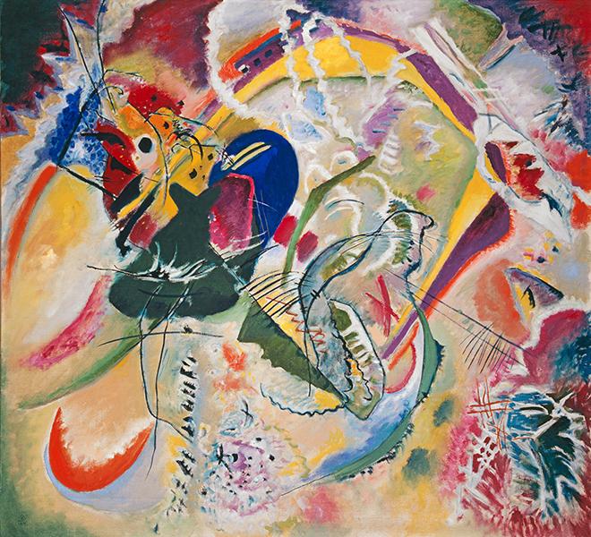 10- <cite>Improvisation 35</cite>, de Wassily Kandinsky, 1914<br>Kunstmuseum Basel Sammlung Online