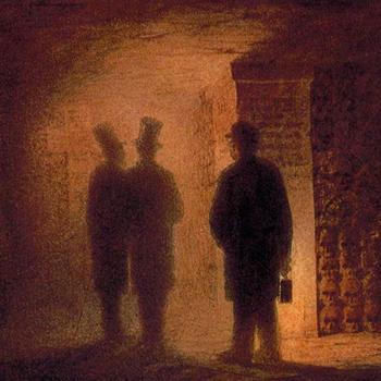 Les Catacombes de Paris par Viktor Hartmann. Musée Russe (Saint-Pétersbourg)