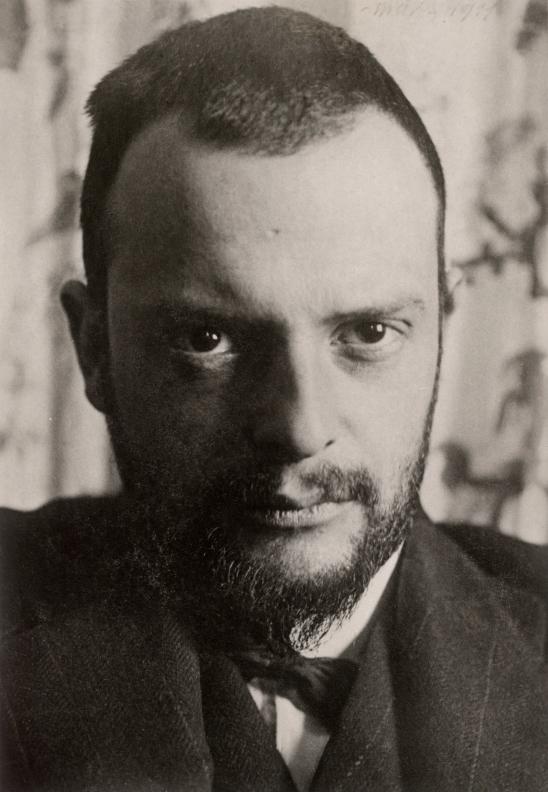 Portrait de Paul Klee, carte postale, 1911. Österreichische Nationalbibliothek