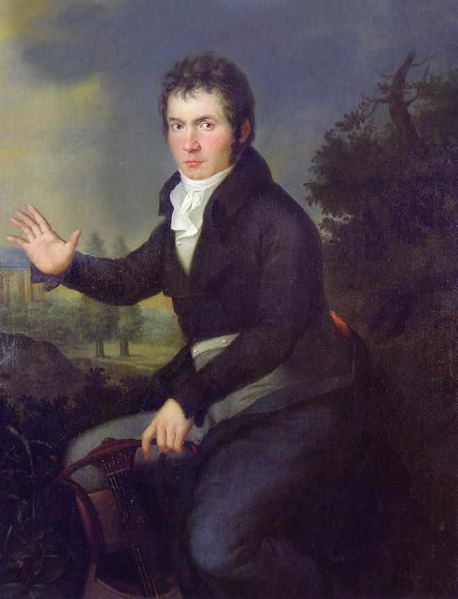 Portrait de Ludwig van Beethoven, peinture de Joseph Willibrord Mähler, entre 1804 et 1805. Vienna Museum/CC-PD-Mark