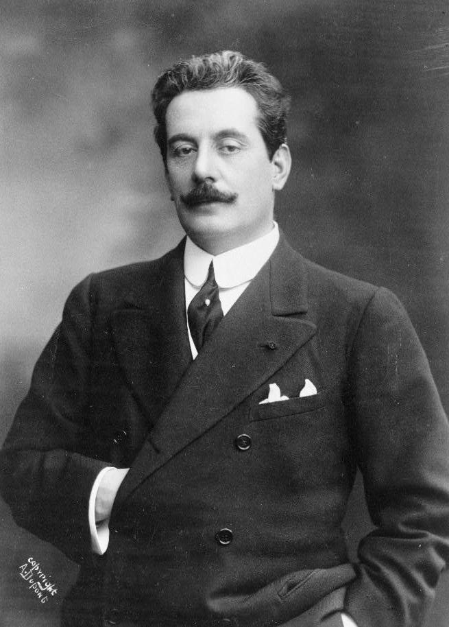 Giacomo Puccini, 1908. Library of Congress