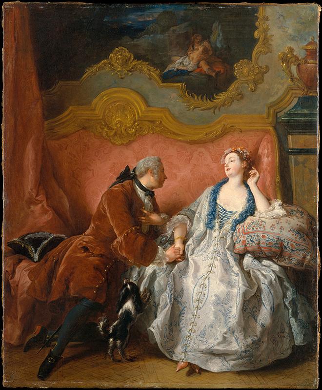 La Déclaration d'amour, peinture de Jean-François de Troy, 1724. Metropolitan Museum CC0