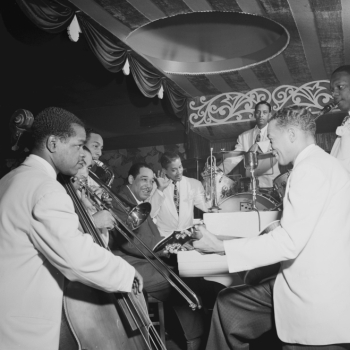 Duke Ellington et ses musiciens, Aquarium, New York, 1946, photo de William Gottlieb. Library of Congress