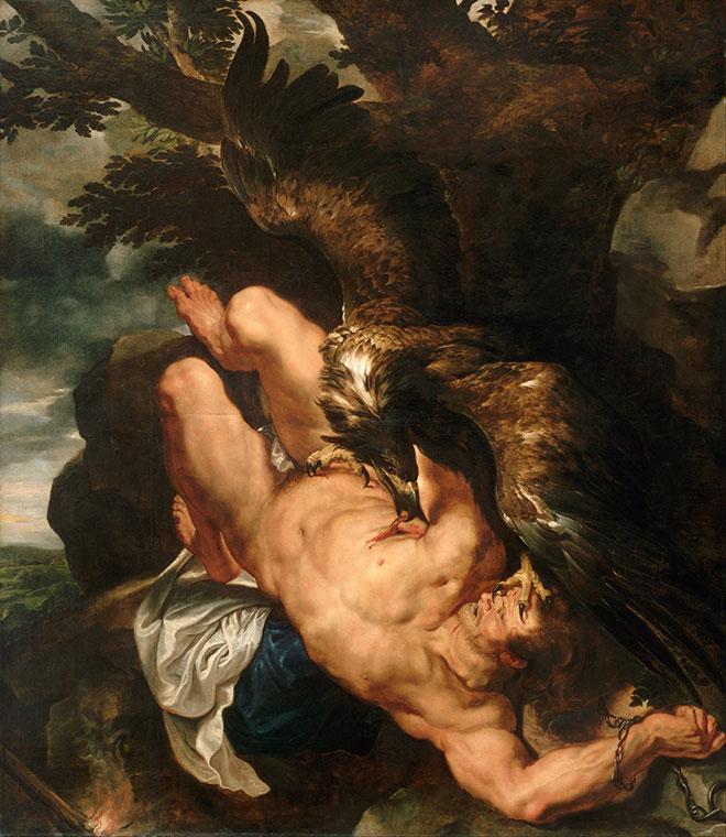 Prométhée enchaîné, peinture de Pierre Paul Rubens, entre 1611 et 1618. Philadelphia Museum of Art