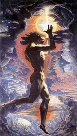 [23] <cite>Prométhée</cite>, peinture de Jean Delville, 1907<br>Université Libre de Bruxelles