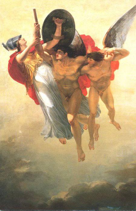 [18] <cite>Prométhée élevé au ciel par le Génie de la Liberté et protégé par Minerve</cite>, peinture de Jacques Réattu, 1792<br>Musée Réattu