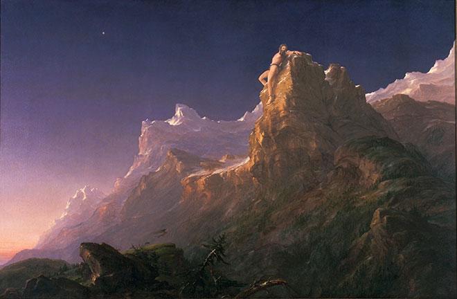 [19] <cite>Prométhée enchaîné</cite>, peinture de Thomas Cole, 1847<br>Fine Arts Museums of San Francisco