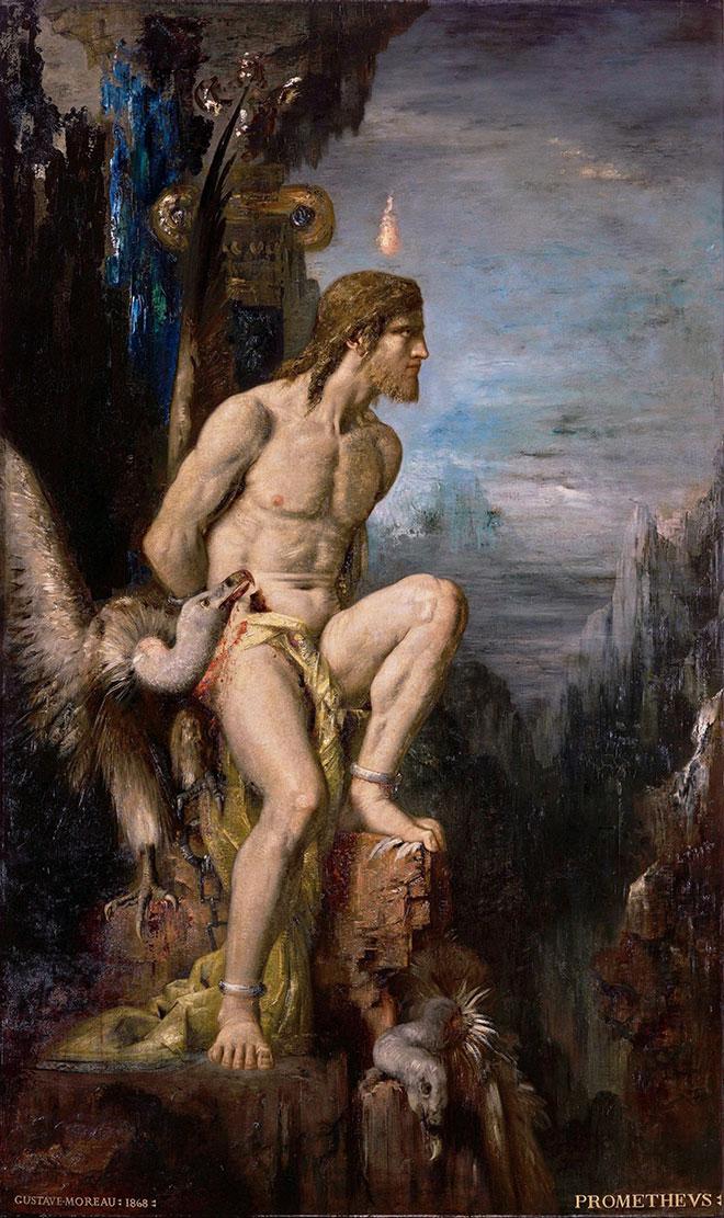 [22] <cite>Prométhée</cite>, peinture de Gustave Moreau, 1868<br>Musée Gustave Moreau