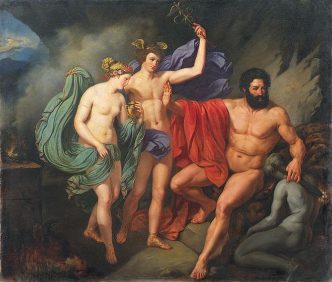[15] <cite>Prométhée</cite>, peinture de Karl Mayer, XIX<sup>e</sup> siècle<br>Österreichische Galerie Belvedere