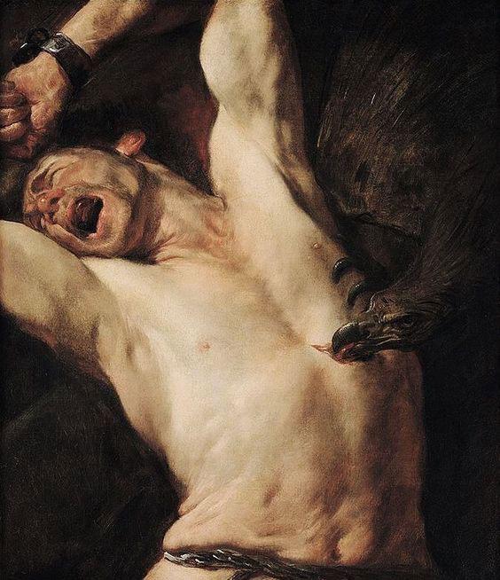 [10] <cite>Le Supplice de Prométhée</cite>, peinture de Gioacchino Assereto, 1620-1648<br>Musée de la Chartreuse de Douai