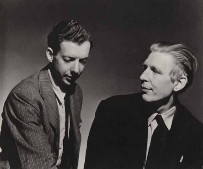 Benjamin Britten et le poète Wystan Hugh Auden, 1941. National Portrait Gallery, London CC BY-NC-ND