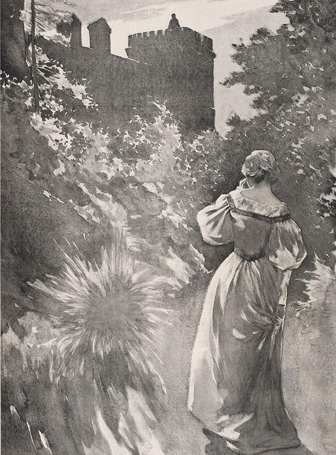 The Turn of Screw, illustration d'Eric Pape pour la nouvelle d'Henry James, 1898. Beinecke Rare Book & Manuscript Library, Yale University