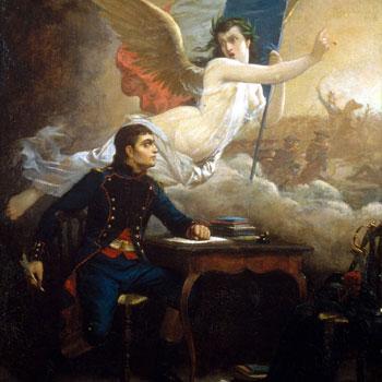 Rouget de Lisle composant La Marseillaise, peinture d'Auguste de Pinelli, vers 1875. Musée de la Révolution française