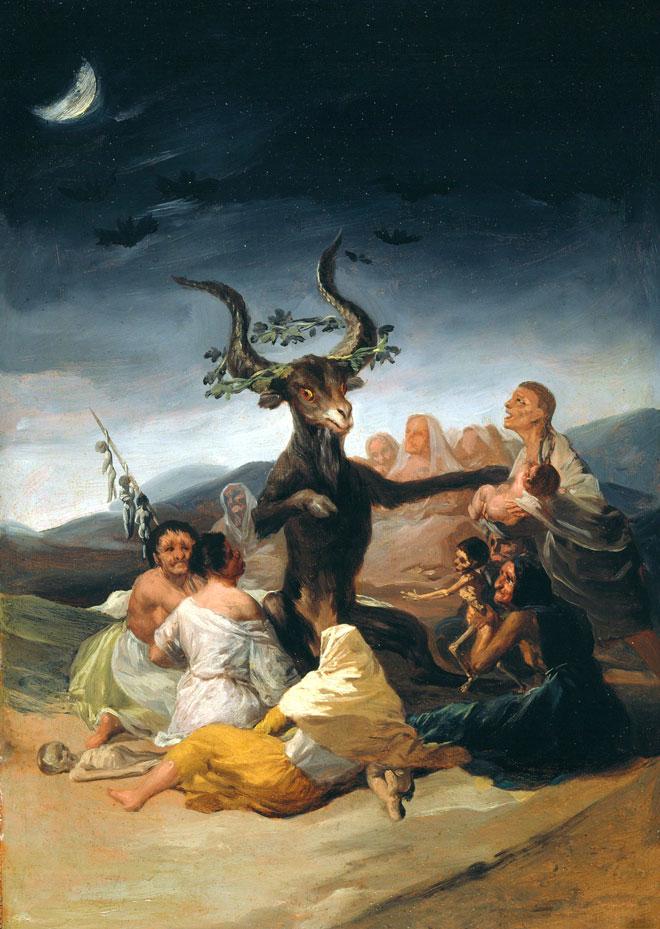 Le Sabbat des sorcières, peinture de Francisco de Goya, 1797-1798. Musée Lázaro Galdiano, Madrid