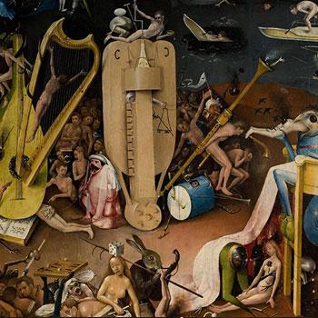 Le Jardin des délices : L'Enfer, peinture de Jérôme Bosch, entre 1480 et 1490. Museo del Prado