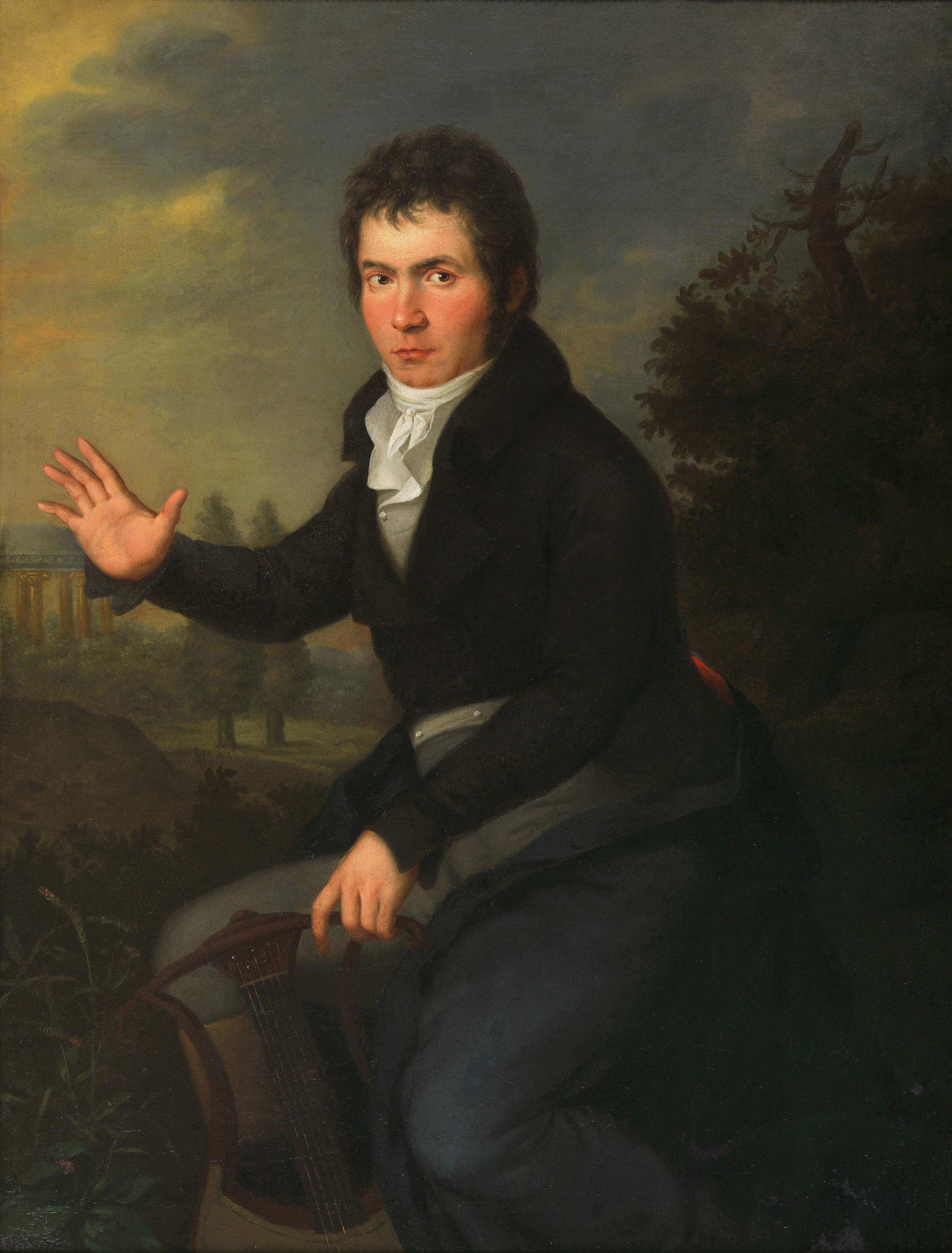 Ludwig van Beethoven, peinture de Josef Willibrord Mähler, entre 1804 et 1805. Wien Museum, photo de Birgit et Peter Kainz CC BY 3.0