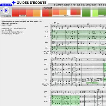 Guide d'écoute Symphonie n°8 en sol majeur «Le Soir» (extrait de III. Menuetto) de Joseph Haydn de la boîte à outils Joseph Haydn