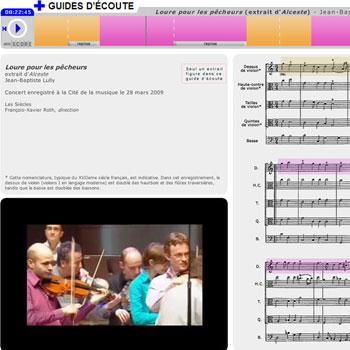 Guide d'écoute Loure pour les pêcheurs, extrait d'Alceste de Jean-Baptiste Lully de la boîte à outils La musique de Versailles