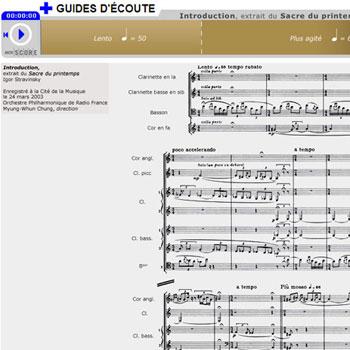 Guide d'écoute Introduction, extrait du Sacre du printemps de Igor Stravinski de la boîte à outils Le Sacre du printemps