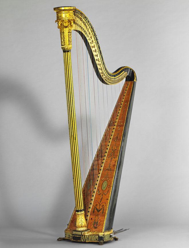 Incontournable - Harpe à simple mouvement Erard - Musée de la musique