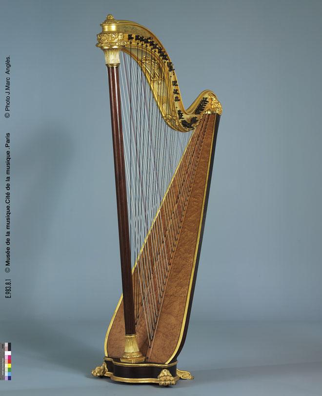 Harpe Chromatique Pleyel - Musée de la musique