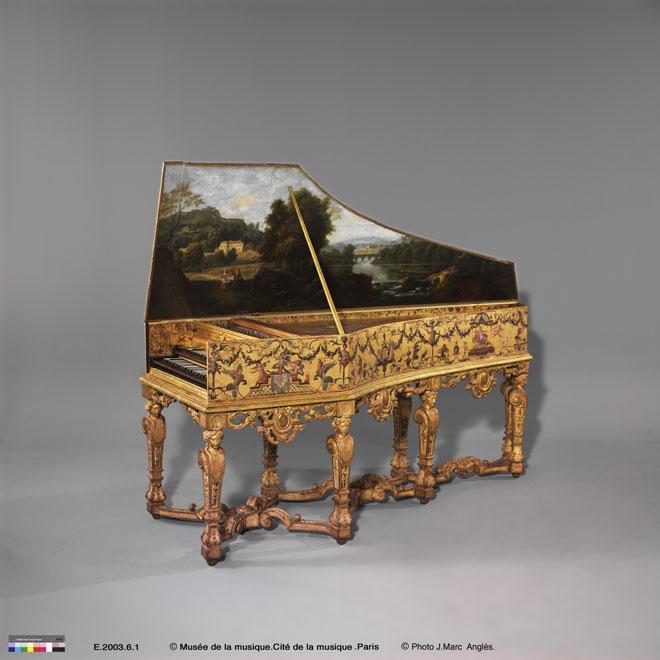Clavecin, Ioannes Couchet, Anvers 1652, ravalé en France en 1701, E.2003.6.1© Musée de la musique - Photo : Jean-Marc Anglès
