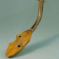 Harpe Kundi, exposition Harpes Afrique Centrale à Paris
