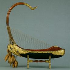 Harpe Saung-Gaunk, exposition Harpes Afrique Centrale à Paris