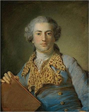 Portrait de Jean-Georges Noverre, peinture de Jean-Baptiste Perronneau, XVIIIe siècle. Musée du Louvre