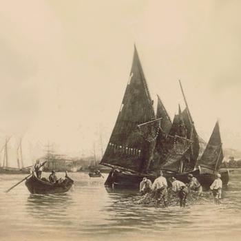 Pêcheurs à Venise. Photo: Carlo Naya.