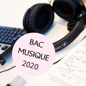 Bac musique 2020