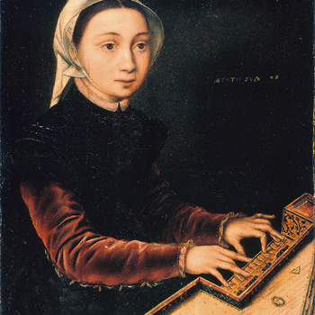Jeune fille au virginal, peinture de Catharina van Hemessen, 1548. Wallraf-Richartz Museum/CC0