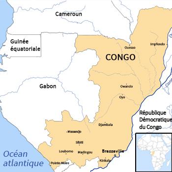 Carte du Congo. Cartes issues du site d-maps.com